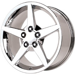Wheel Replicas C6 Chrome 18X9 5-120.7 Wheel