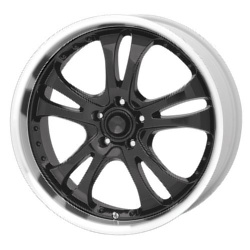 American Racing CASINO Gloss Blk W/ Mach. Lip 16X7 5-114.3 Wheel