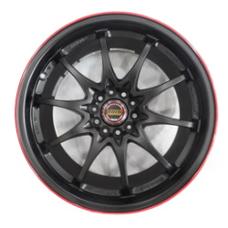 Volk Racing CE28N Black/Red 19X9 5-120 Wheel
