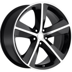 Wheel Replicas CHALLENGER Black/Machined Face Wheel