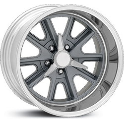 Carroll Shelby COBRA Mag Gray Center Polished Barrel 17X8 5-120.7 Wheel