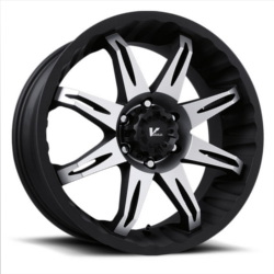 V-Rock CORE Matte Black/Machined 18X9 6-135 Wheel