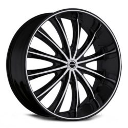 Strada CORONA Black W/ Machined Face 22X10 5-115 Wheel