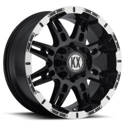 Katana KX-Series CP34 Matte Black Machined Lip Wheel