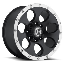 Katana KX-Series CP41 Matte Black Machined Lip 20X9 5-127 Wheel