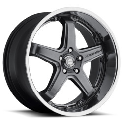 Katana Racing CR5 Gunmetal Machined Lip 17X7 5-100 Wheel