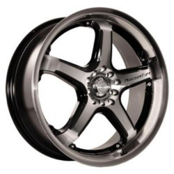 Katana Racing CR5 Hyperblack Machined Face 17X7 4-114.3 Wheel