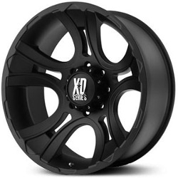 KMC-XD Series CRANK Matte Black 22X11 6-139.7 Wheel