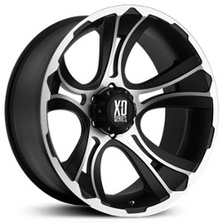 KMC-XD Series CRANK Matte Black Machined 22X11 8-180 Wheel