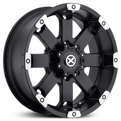 American Racing Atx CRAWL Matte Black Machined 17X8 8-165.1 Wheel