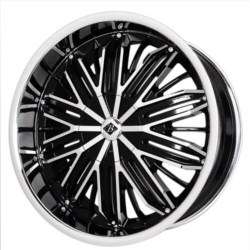 Black Ice CROSSFADE Black w/Chrome 20X9 5-112 Wheel