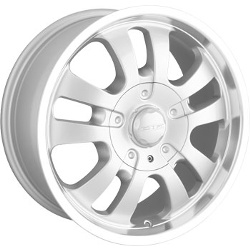 DIP D10 Silver/Machined 18X9 6-139.7 Wheel