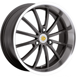 Genius DARWIN Gunmetal W/Mirror Cut Lip 15X7 3-112 Wheel