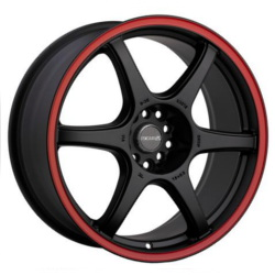 Tenzo-R DC-6 V.1 Black/Red 18X8 5-100 Wheel