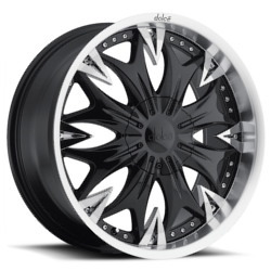 Dolce DC20 Black 20X9 5-115 Wheel