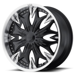 Dolce DC20 Matte Black 20X9 5-115 Wheel