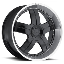 Dolce DC22 Black 22X10 5-112 Wheel