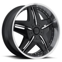 Dolce DC24 Black 22X10 5-135 Wheel