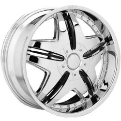Dolce DC24 Chrome 22X10 5-115 Wheel