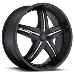 Dolce DC26 Matte Black 20X8 5-100 Wheel
