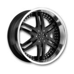 Strada DENARO Black W/ Machined Lip 22X10 5-127 Wheel