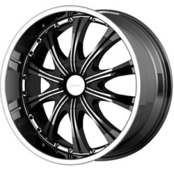 Diamo DI030 Gloss Black Machined 20X9 5-139.7 Wheel