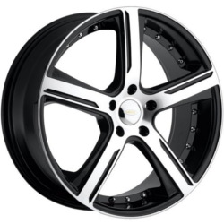 Diamo DI037 Gloss Blackmachined 20X9 5-112 Wheel