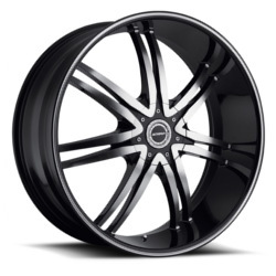 Strada DIABLO Black W/ Machined Face 22X9 5-115 Wheel