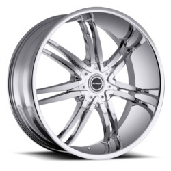 Strada DIABLO Chrome 24X10 5-120 Wheel