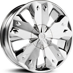 Verde DIAMOND Chrome 17X8 6-127 Wheel