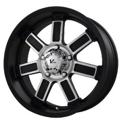 V-Rock DIESEL Matte Black/Machined 18X9 6-135 Wheel