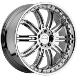 KMC DIME Chrome 22X10 5-115 Wheel