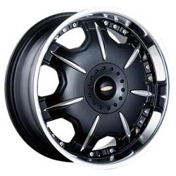 Baccarat DIRECTOR Black W/ Machined Lip 20X9 5-115 Wheel