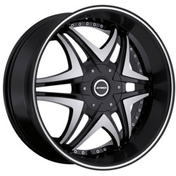 Strada DOLCE Black W/ Machined Lip 24X10 5-112 Wheel