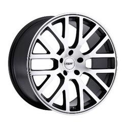 TSW DONINGTON Gunmetal Mirror Cut Face/Gunmetal Lip 17X7 4-100 Wheel