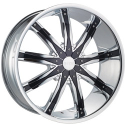 Dcenti DW29 Chrome W/ Black Inserts 24X10 6-139.7 Wheel
