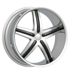 Dcenti DW9 Chrome W/ Black Inserts 22X10 5-115 Wheel