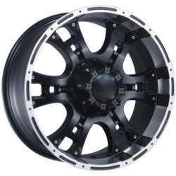 Dcenti DW915 Black Machined Lip 20X9 6-139.7 Wheel