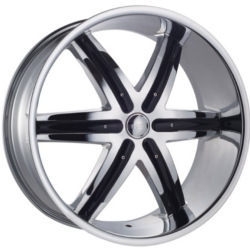 Dcenti DW9B Chrome W/ Black Inserts 24X10 6-139.7 Wheel