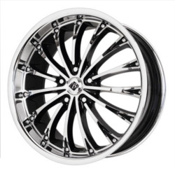 Black Ice ENVISIO Black w/Chrome 20X9 5-114.3 Wheel