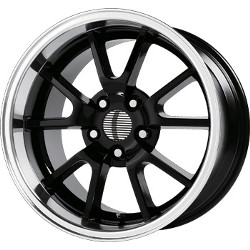 Wheel Replicas FR500 Black/Machined Lip 18X9 5-114.3 Wheel