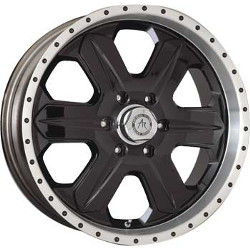 American Racing FUEL Gloss Blk W/ Mach. Lip 20X9 6-139.7 Wheel