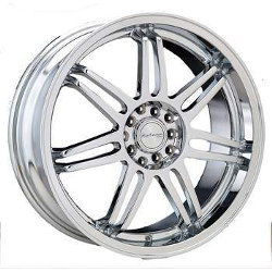 Katana Racing GF7 Chrome 17X7 5-100 Wheel