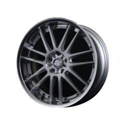 Volk Racing GT-30 PHANTOM F.Silver/Bk Lip Wheel