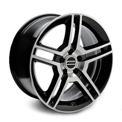 Wheel Replicas GT500 Black/Machined Face 18X10 5-114.3 Wheel