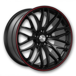 Katana Racing GTM Matte Black W/ Red Stripe Wheel