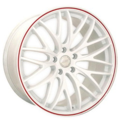 Katana Racing GTM White W/ Red Stripe Wheel