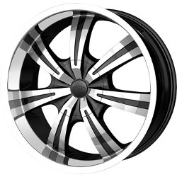 DIP GUNNER Black/Machined 20X9 6-135 Wheel