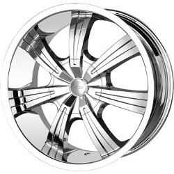 DIP GUNNER Chrome 24X10 5-135 Wheel