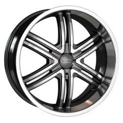 DIP HACK Matte Black/Machined 20X9 5-115 Wheel